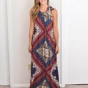 NWT Forever 21 Multi Color Maxi Dress size Small